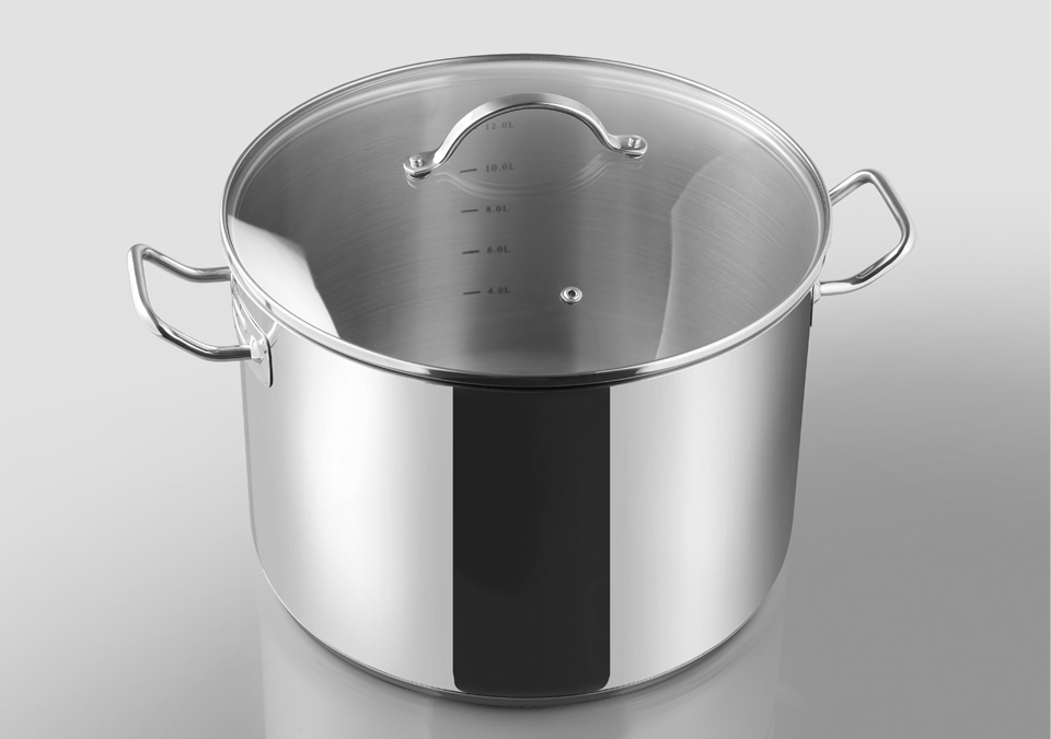 Pot 14,5L with lid&scale