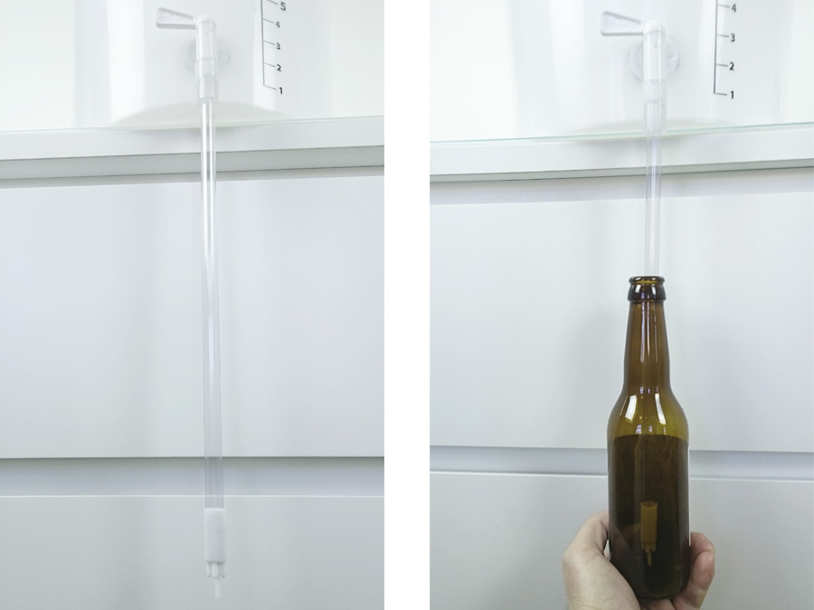 Bottle filler for tap