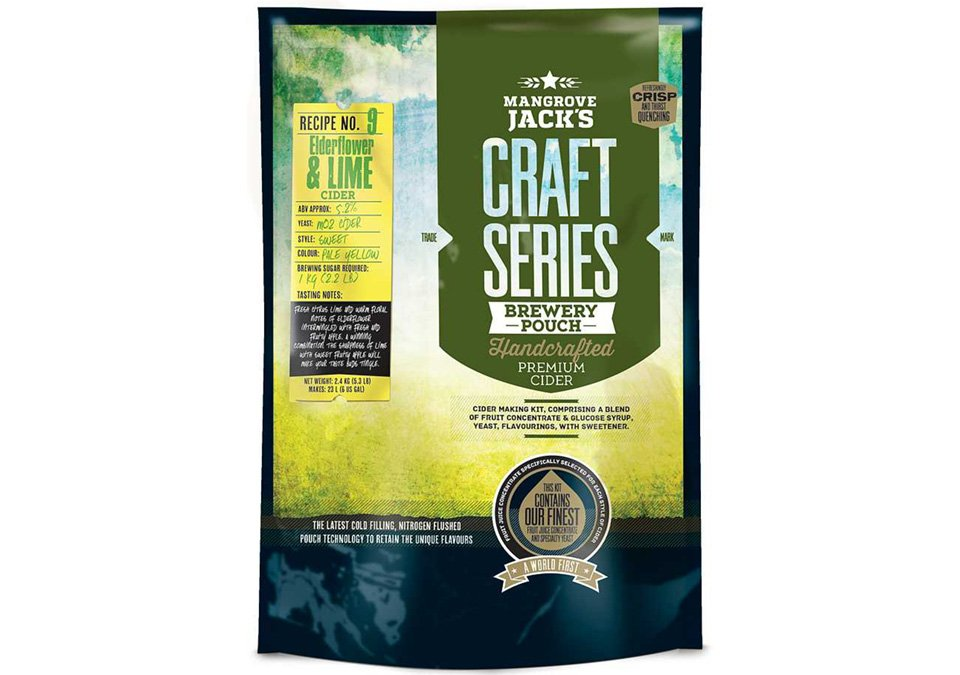 Mangrove Jacks Elderflower Lime Cider 23L