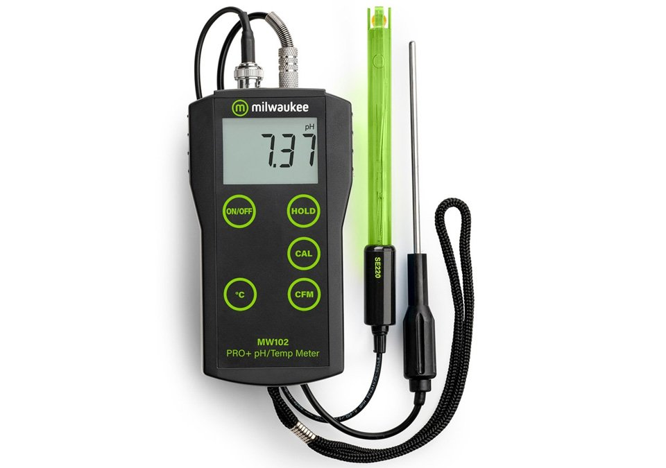 Milwaukee MW102 PRO+ 2-in-1 pH & Temperature Meter with ATC